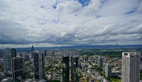 View over Frankfurt stock images