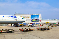 Lufthansa Cargo Flight ready for Royalty Free Stock Images