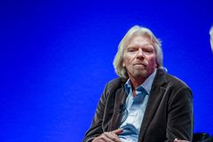 Richard Branson, Founder and President of Virgin Group. FRANKFURT, GERMANY - MAY 17, 2010: Richard Branson, Founder and President of Virgin Group, answering to Royalty Free Stock Photo
