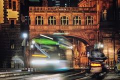 Frankfurt, Germany at night Stock Images