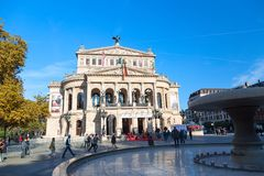 Frankfurt, Germany - November, 2018: Famous Opera house in Frankfurt. Die alte Oper in Frankfurt, Germany royalty free stock images