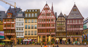 Frankfurt, Germany. Old town buildings in Romerberg, Frankfurt, Germany Royalty Free Stock Photography