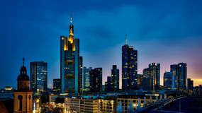 Frankfurt, Germany, Panorama, City Stock Images