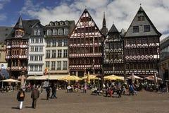 frankfurt germany romerfyrkant Arkivfoton