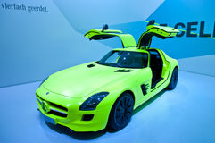FRANKFURT, GERMANY - SEP 25:Mercedes SLS E-Cell Stock Images