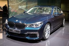 BMW 7 series car. FRANKFURT, GERMANY - SEP 12, 2017: BMW 7 Series Edition 40 Jahre  showcased at the Frankfurt IAA Motor Show 2017 Stock Photos