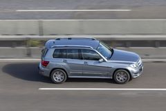Mercedes Benz GLK on the road Royalty Free Stock Image