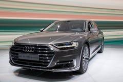 2018 Audi A8 L quattro car Stock Image