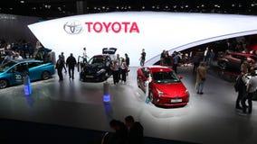 Toyota stand at the Frankfurt IAA 2017 stock video