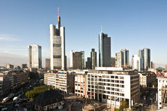 Skyline of Frankfurt am Main with Hauptwache Stock Photography