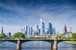 Frankfurt Germany. Skyline of Frankfurt, Germany, the financial center of the country stock photos