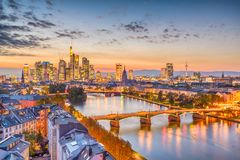 Frankfurt, Germany Skyline royalty free stock photo