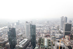Frankfurt germany skyscrapers with white background Royalty Free Stock Photos