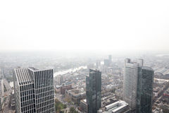 Frankfurt germany skyscrapers with white background Royalty Free Stock Photo