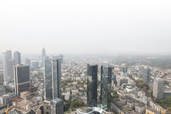 Frankfurt germany skyscrapers with white background Stock Photography