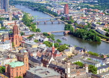 Frankfurt, Germany. View of river Main and city of Frankfurt, Germany royalty free stock images