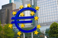 Frankfurt Giant Euro Symbol Royalty Free Stock Photography