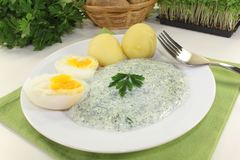 Frankfurt green sauce Royalty Free Stock Images