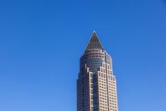 Frankfurt-Handelsmesse und Kontrollturm Stockfotos