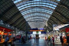Frankfurt Hauptbahnhof centrali stacja obrazy royalty free