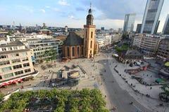 frankfurt hauptwacheströmförsörjning Royaltyfria Bilder