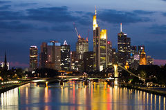 Frankfurt horisont Arkivfoto