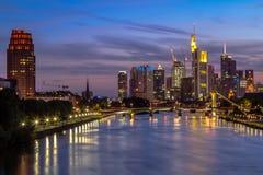 Frankfurt horisont Fotografering för Bildbyråer