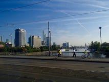 Frankfurt horisont 3 Arkivfoton