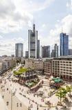 frankfurt horisont till sikten Arkivfoto