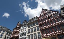 frankfurt houses traditionell roemer arkivfoton