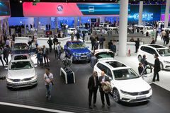 Frankfurt IAA 2015. FRANKFURT, GERMANY - SEP 16, 2015: New Volkswagen cars shown during IAA 2015 motor show Stock Image
