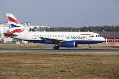 Frankfurt International Airport – British Airways Airbus A319 takes off Royalty Free Stock Photos