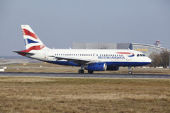 Frankfurt International Airport – British Airways Airbus A319 takes off Royalty Free Stock Photography