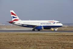 Frankfurt International Airport – British Airways Airbus A319 takes off Stock Images