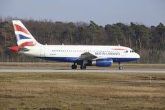 Frankfurt International Airport – British Airways Airbus A319 takes off Royalty Free Stock Image