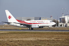 Frankfurt International Airport – Air Algerie Boeing 737 takes off Royalty Free Stock Photography