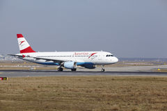 Frankfurt International Airport – Austrian Airlines Airbus A320 takes off Royalty Free Stock Photography