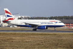 Frankfurt International Airport – British Airways Airbus A319 takes off Royalty Free Stock Photos