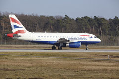 Frankfurt International Airport – British Airways Airbus A319 takes off Royalty Free Stock Image