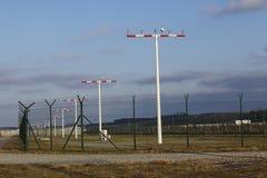 Frankfurt International Airport (FRA) - Landing strip lights Royalty Free Stock Photos