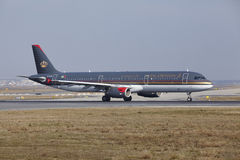 Frankfurt International Airport – Royal Jordanian Airbus A321 takes off Stock Image