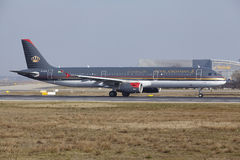 Frankfurt International Airport – Royal Jordanian Airbus A321 takes off Royalty Free Stock Photo