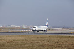 Frankfurt International Airport – SunExpress Boeing 737 takes off Stock Photo