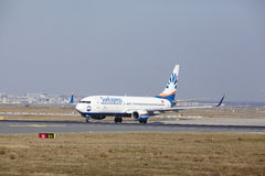 Frankfurt International Airport – SunExpress Boeing 737 takes off Stock Photography