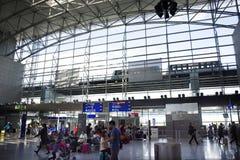 Frankfurt internationell flygplats i Frankfurt, Tyskland arkivbilder