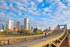Frankfurt Iron Bridge Royalty Free Stock Photos
