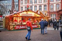 Frankfurt jul Arkivbilder
