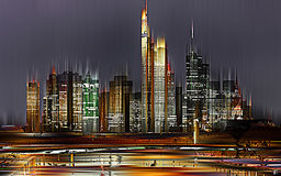 Frankfurt/$l*Main, Γερμανία, αφαιρεί γραφικά & x28 ψηφιακά manipulated& x29  Στοκ Φωτογραφία