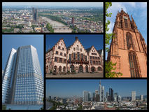 Frankfurt landmarks collage Royalty Free Stock Photography