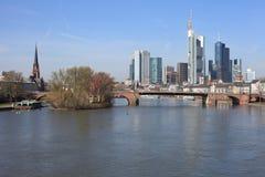 frankfurt linje sky Royaltyfria Foton
